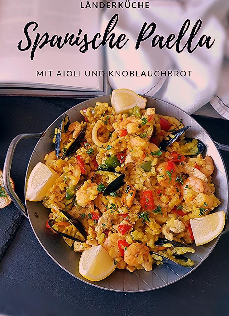 #Paella, wie man sie in Spanien isst. Mit #Aioli und #Knoblauchbaguette. In e…