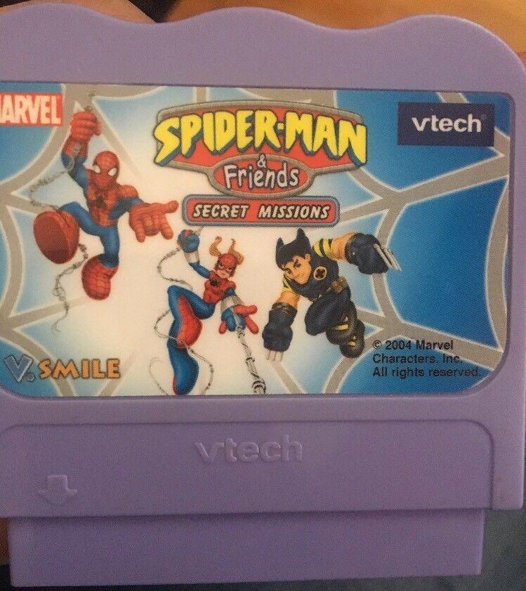 Vtech Marvel Spiderman Girl Smile Game Cartridge 2004 Secret Missions Wolverine Vtech Spiderman Vtech Spiderman Girl