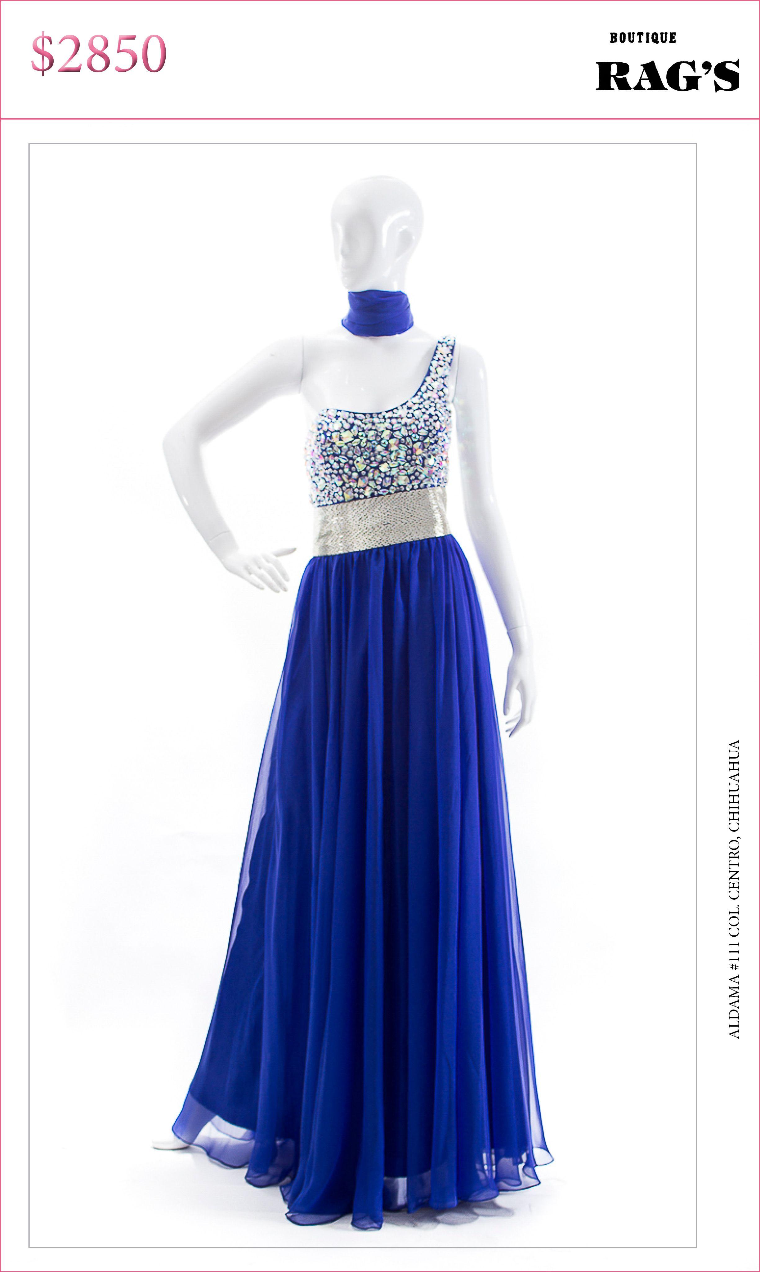 d8a1cc066 Vestido largo azul rey