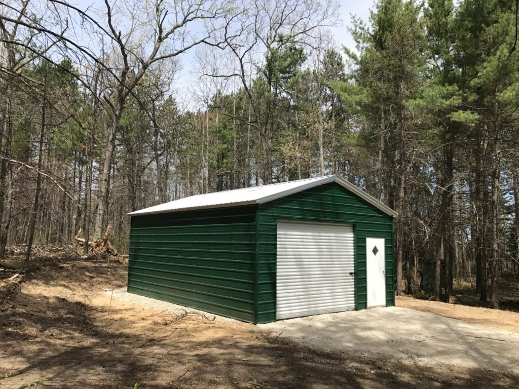 Metal Shed installed in Northern Michigan Metal shed