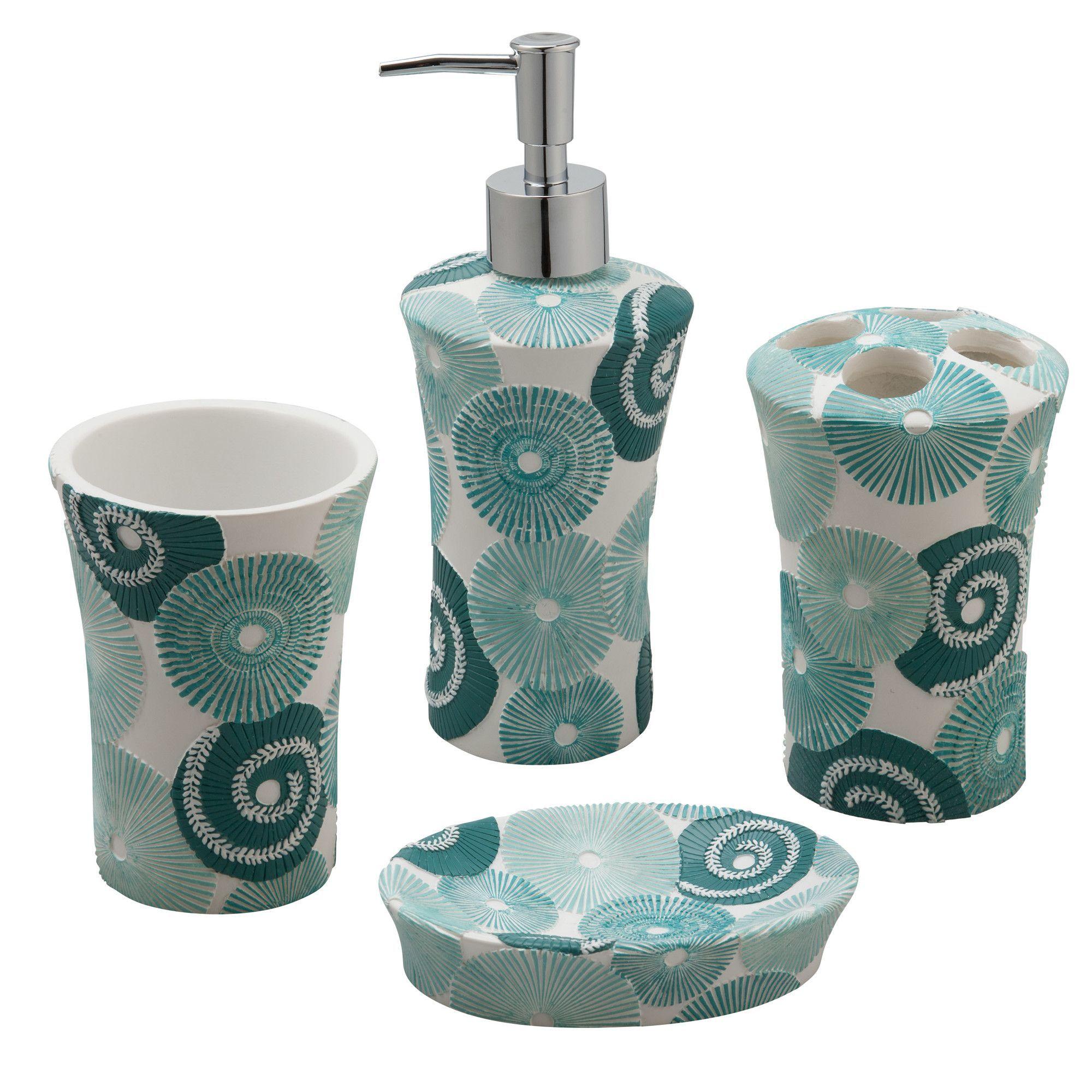 Accessoires Salle De Bain Couleur Aqua ~ parasoles 4 piece bath accessory set products pinterest