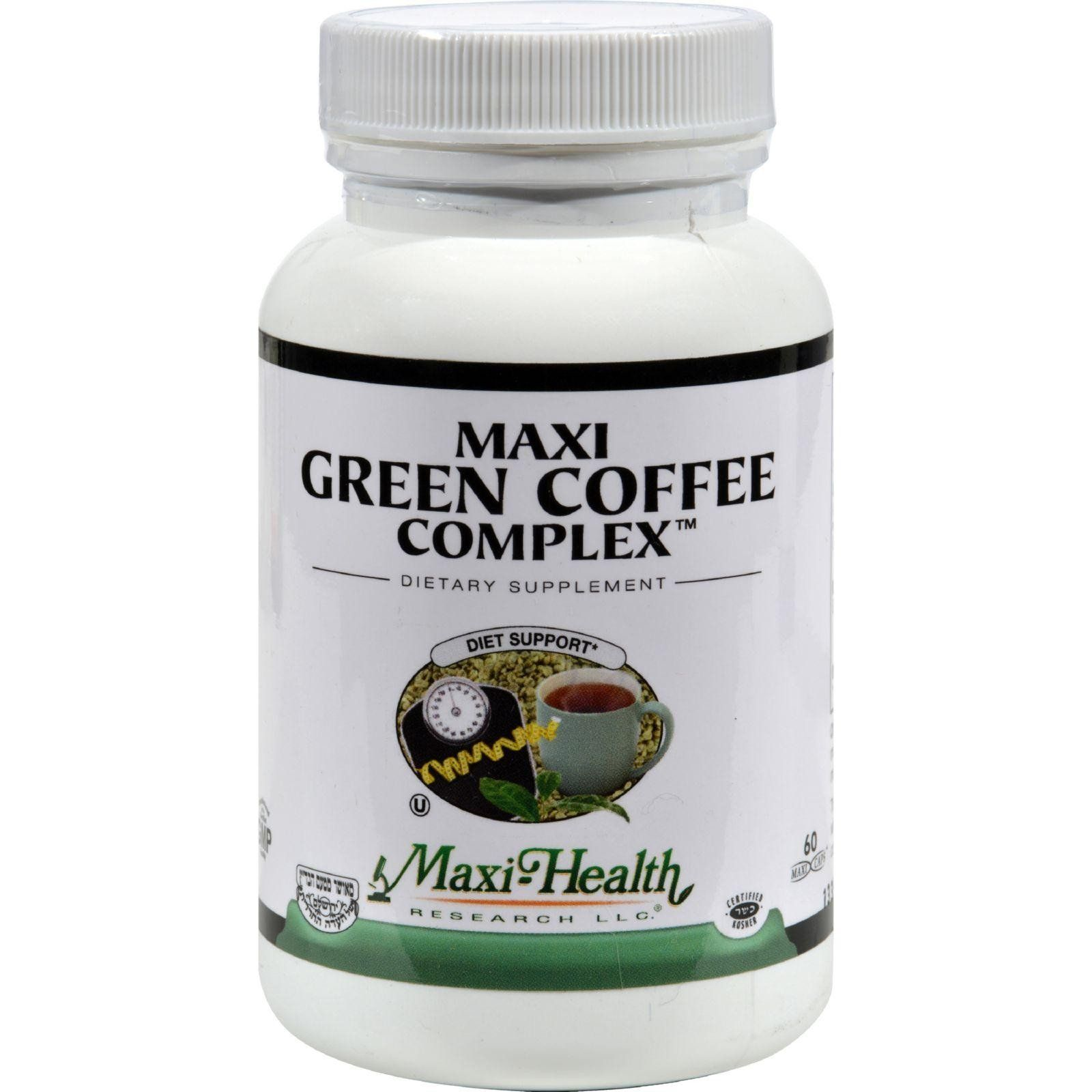 Maxi Health Kosher Vitamins Maxi Green Coffee Complex 60