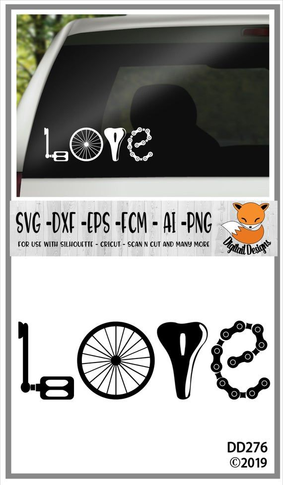 Cycling Love SVG - png - dxf - eps - fcm - ai - Cu