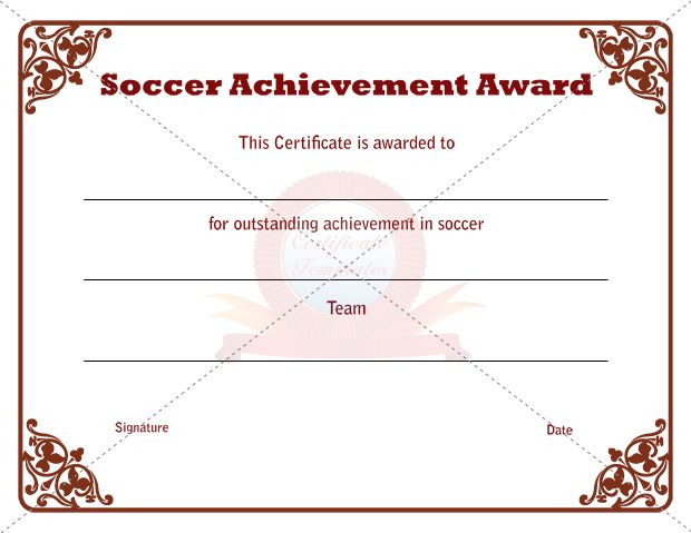 Sports Certificate Template SPORTS CERTIFICATE TEMPLATES - certificate of achievement word template