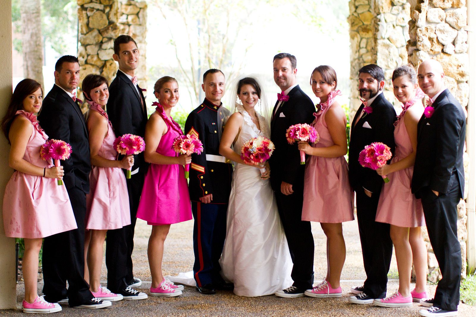 The adults in the wedding party | Tux & chucks | Pinterest | Chuck ...