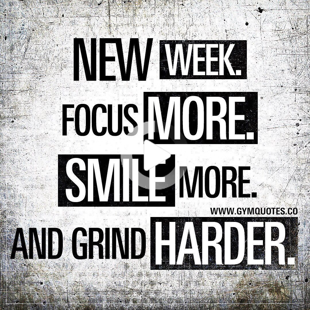 """Gym Quotes Workout Motivation on Instagram: """"#newweek ✖️Make sure you focus more this week! Think ab..."""