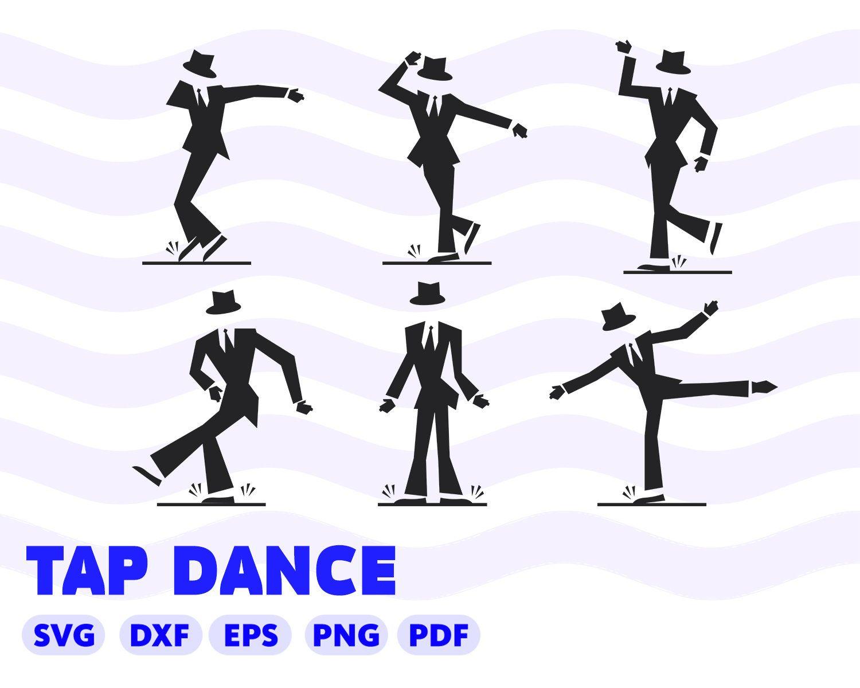 Tap Dance Svg Svg Files For Cricut Shirt Decal Dancer Svg Tap Shoes Tap Dancer Silhouette Svg Vector Silhouette Designer Edition Tap Dance Tap Dancer