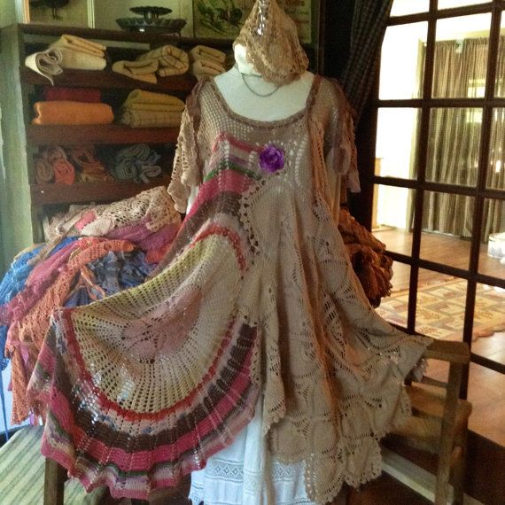 Luv Lucy Whirligig dress Hippy style bohemian by LuvLucyArtToWear, $295.00