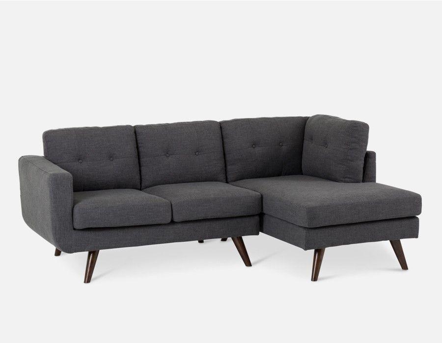 Margot Dark Grey Sectional Sofa Right Home Tiny Grey