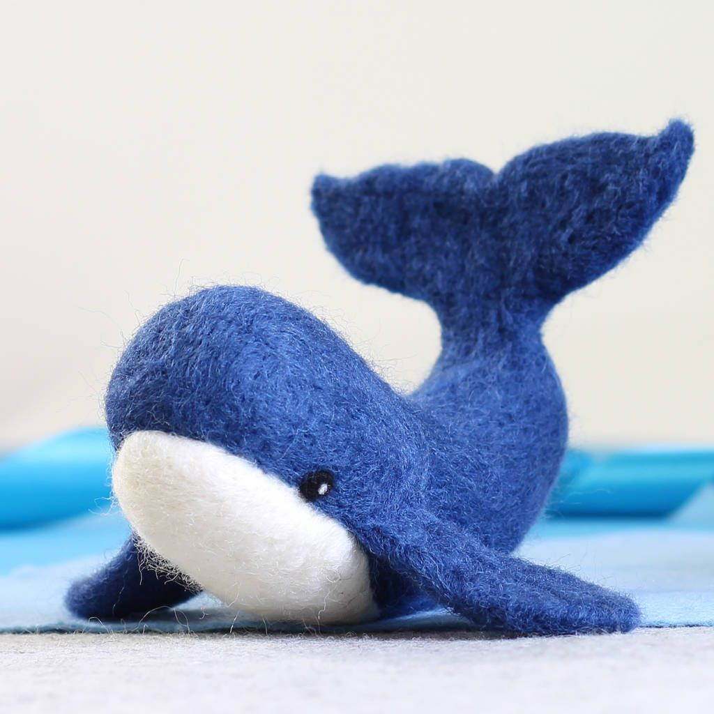 Whale Needle Felting Craft Kit