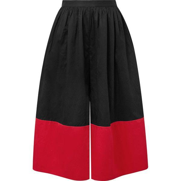 Marni Cropped Two-tone Organic Cotton-poplin Wide-leg Pants - Black Mara Hoffman Sale Latest Collections Cheap Big Sale S5egmVj8Q4