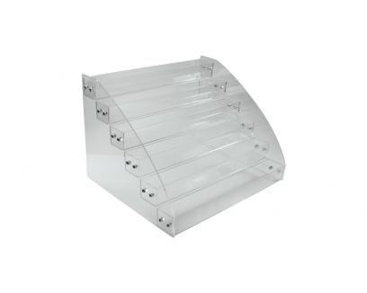 six tier acrylic display caddy  eddie's retail supplies