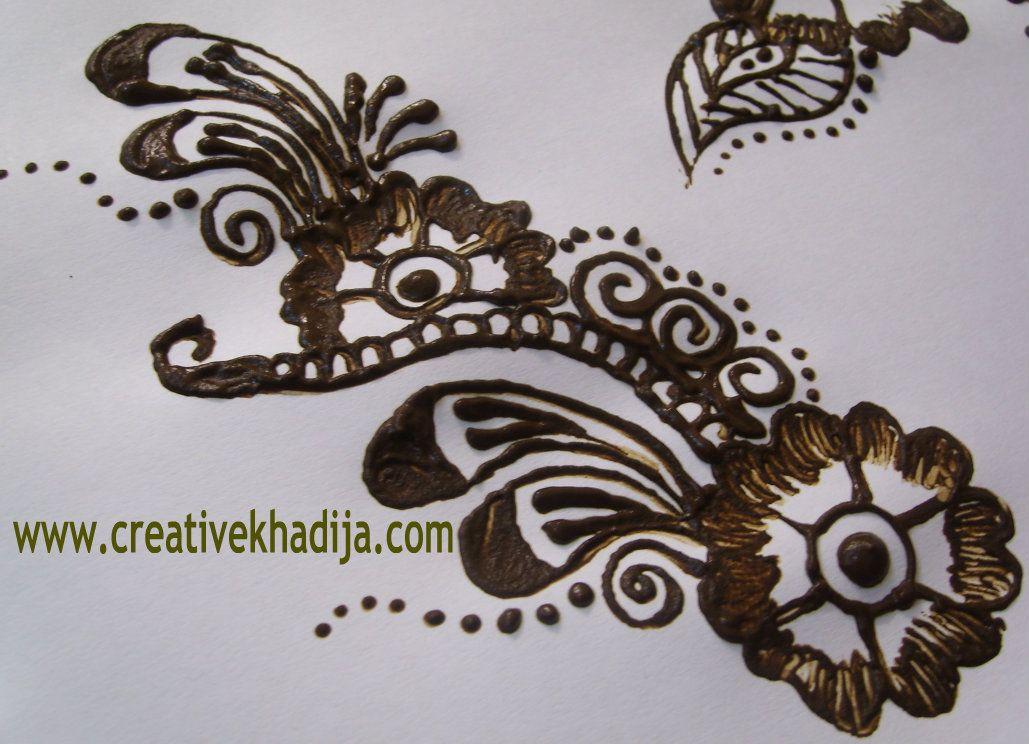 Mehndi Patterns Easy On Paper : Henna mehndi designs creative mind khadija jonna s mendhi