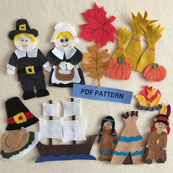 Thanksgiving And The Pilgrims Pattern For A Felt Board Including The Mayflower Pdf Pattern Only Felt Board Patterns Pilgrims Indians Felt Patterns