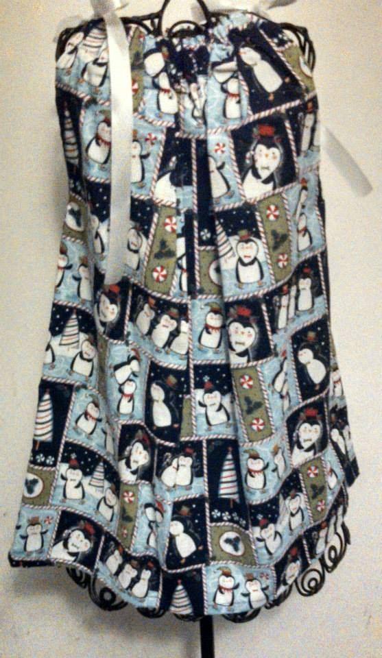 Winter Wonderland Pillowcase Dress by ChrisAnnsCreations on Etsy, $12.00