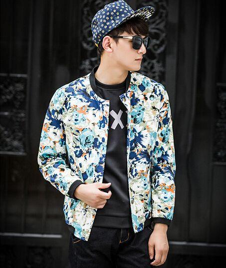 82a5e4501 Mens Winter Jackets Wholesale Men Jacket Floral Printing Korean ...