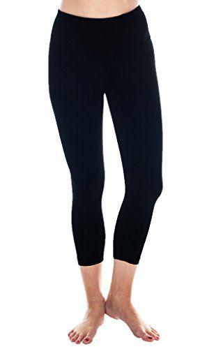 691e576394068 90 Degree By Reflex High Rise and Shine Capri Black XS Nylon Spandex  moisture wicking + four way stretch gusset crotch + interlock seams wide  waistband with ...