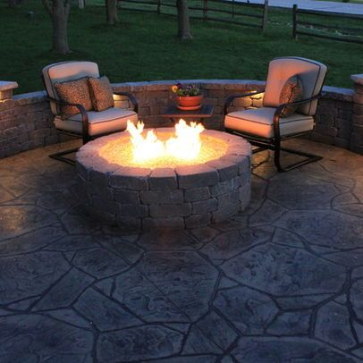Patio stamped concrete patio Design Ideas, Pictures, Remodel and