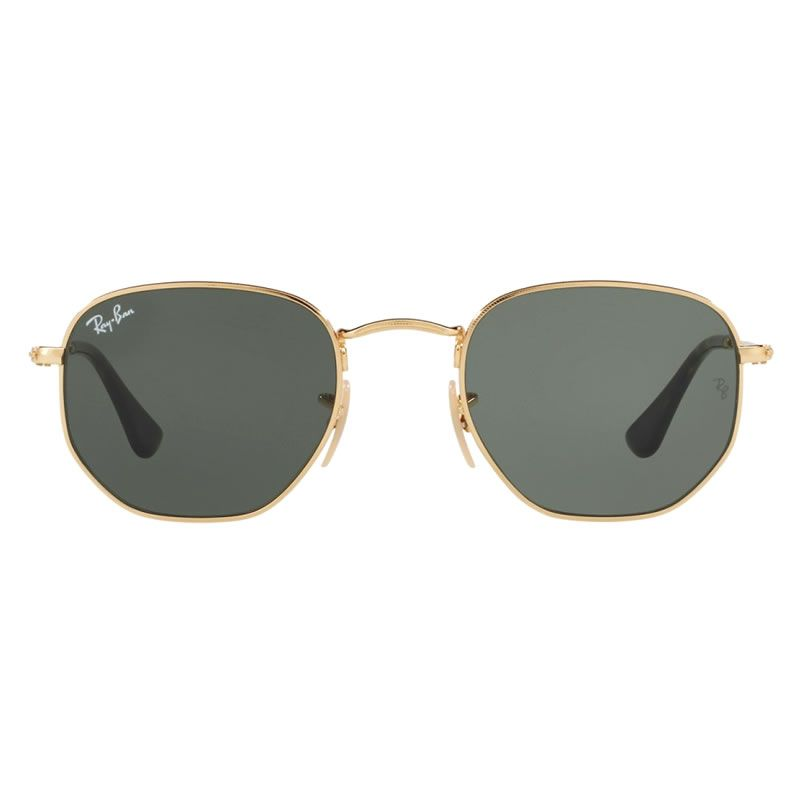 Oculos De Sol Hexagonal 3548 Masculino - Feminino + Brinde Hexagonal Ray Ban 2fe221f998177