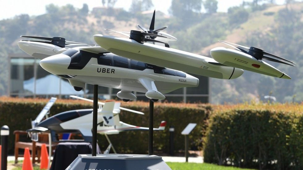 A model of ubers electric flying taxi photo afp taxi