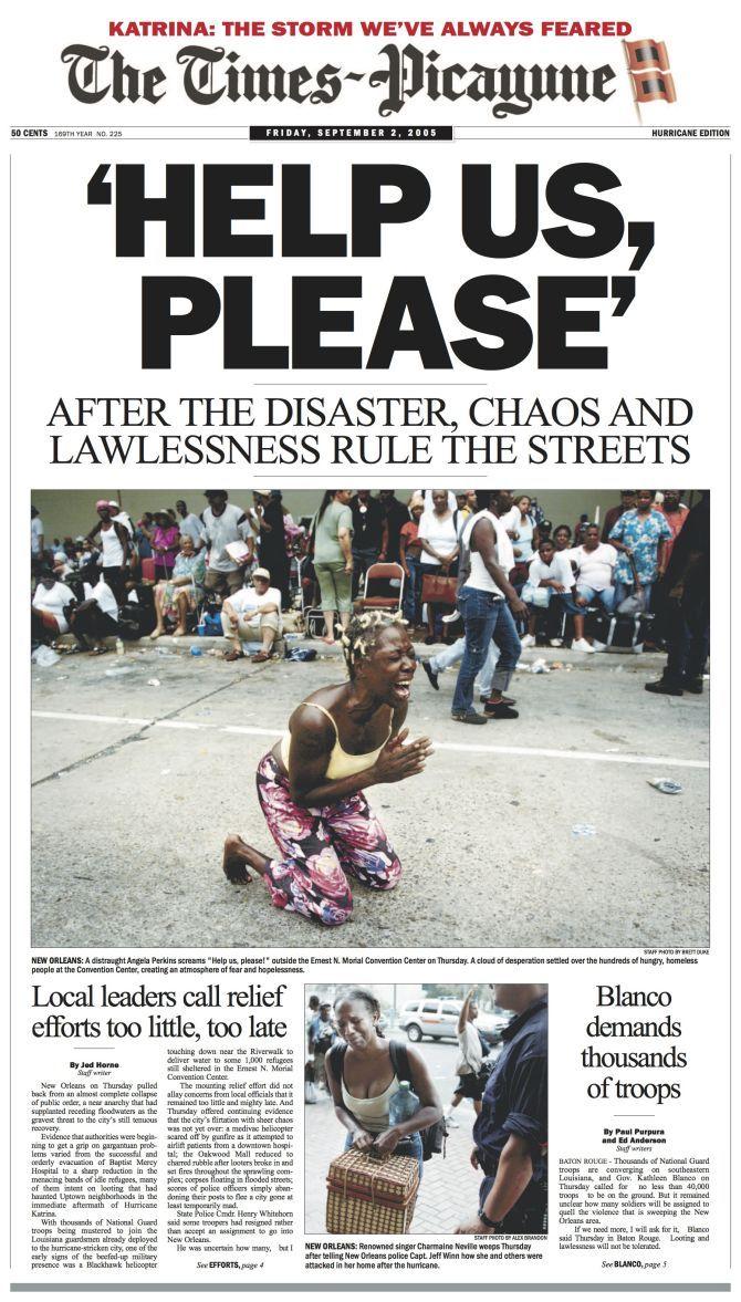 The Story Of Hurricane Katrina Through Stunning Local Newspaper Covers Hurricane Katrina Picayune Katrina