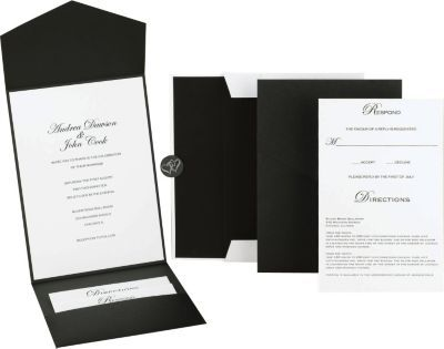 Staples has the black and white pocket invitation kit you need for black and white pocket invitation kit staples stopboris Image collections