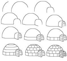 How To Draw An Igloo Art Drawings For Kids Easy Drawings Drawing Tutorials For Kids