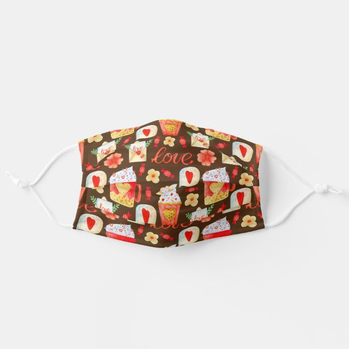 Valentine Holiday Love Cocoa Cupcakes Adult Cloth