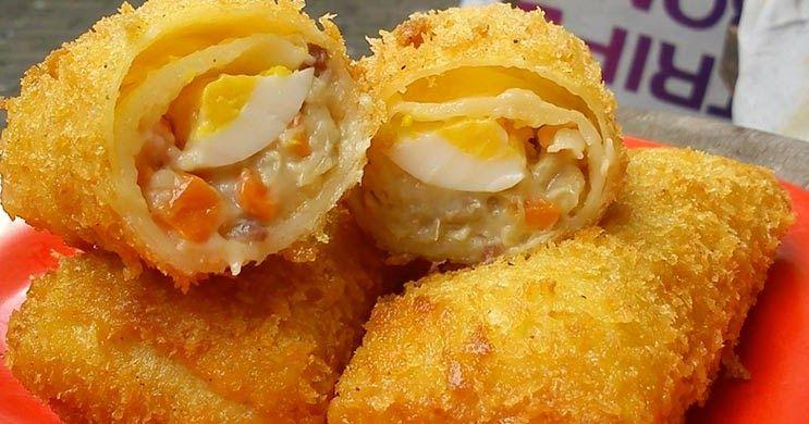 Resep Risoles Ragout Ayam Super Makanan Resep Makanan Cemilan
