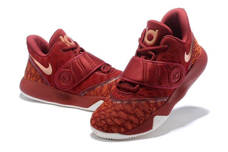 1139cc84b52 Nike KD Trey 5 VI Bordeaux Metallic Gold-White Men s Basketball Shoes
