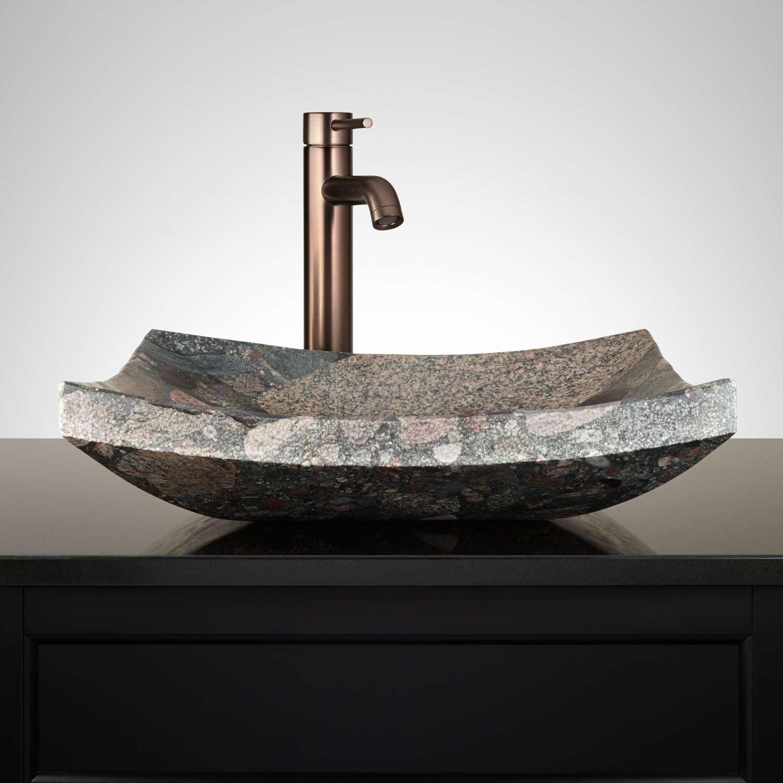 Incredible Eden Rectangular Brown Granite Vessel Sink Vessel Sinks Download Free Architecture Designs Photstoregrimeyleaguecom