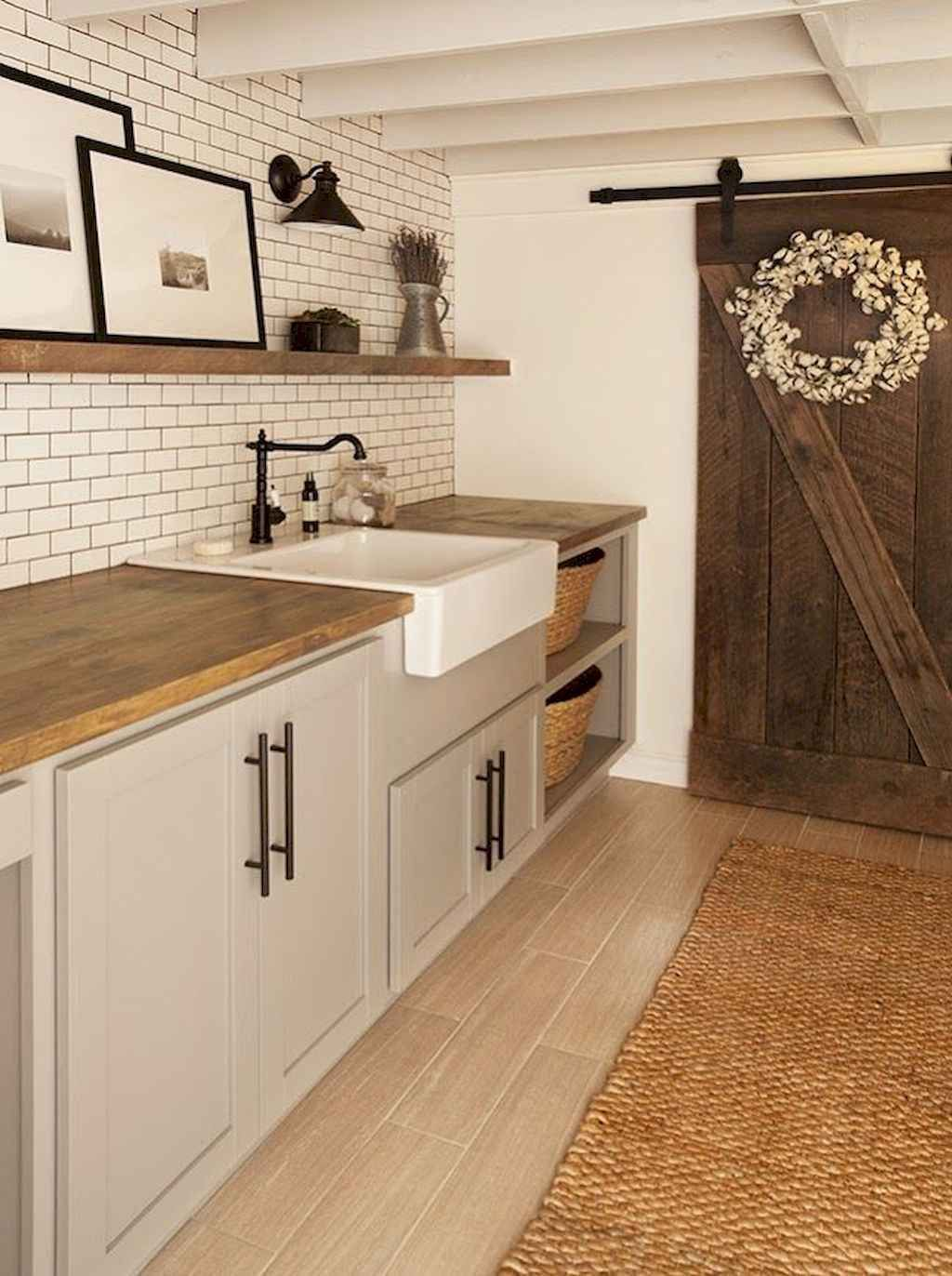 40+ Rustic Farmhouse Laundry Room Design Ideas and Makeover - carolanne news
