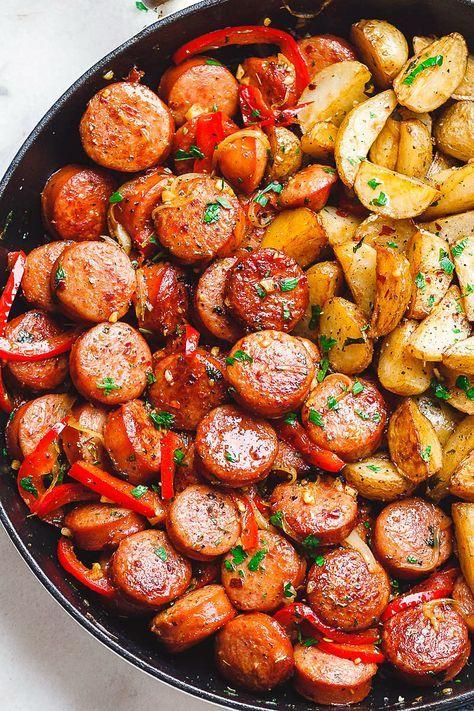 Smoked Sausage and Potato Skillet Recipe – Smoked