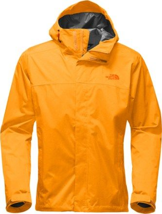 The North Face Men's Venture 2 Rain Jacket Black/Centennial Red ...