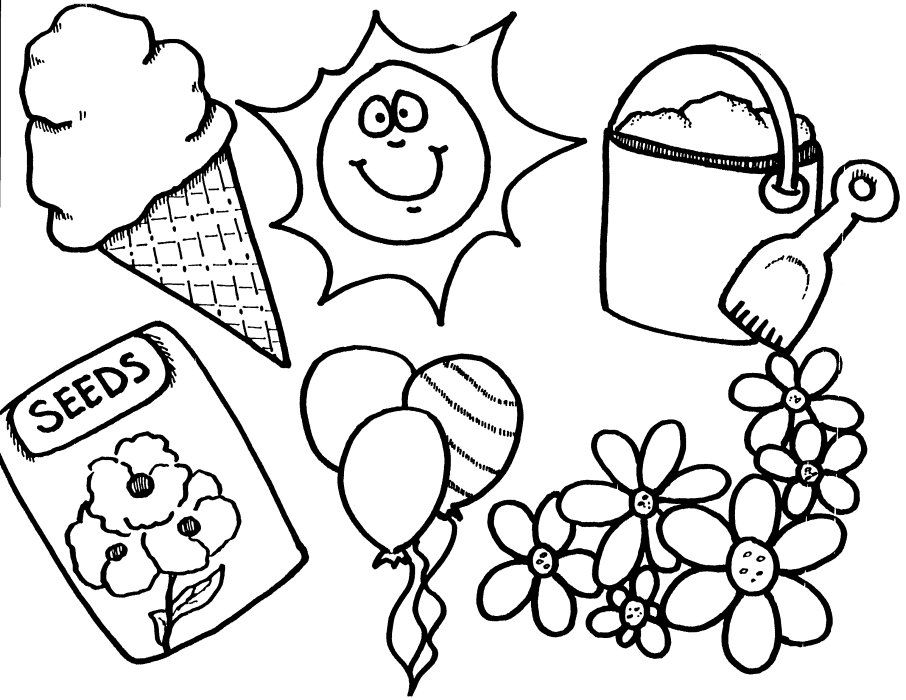 spring prep coloring pages