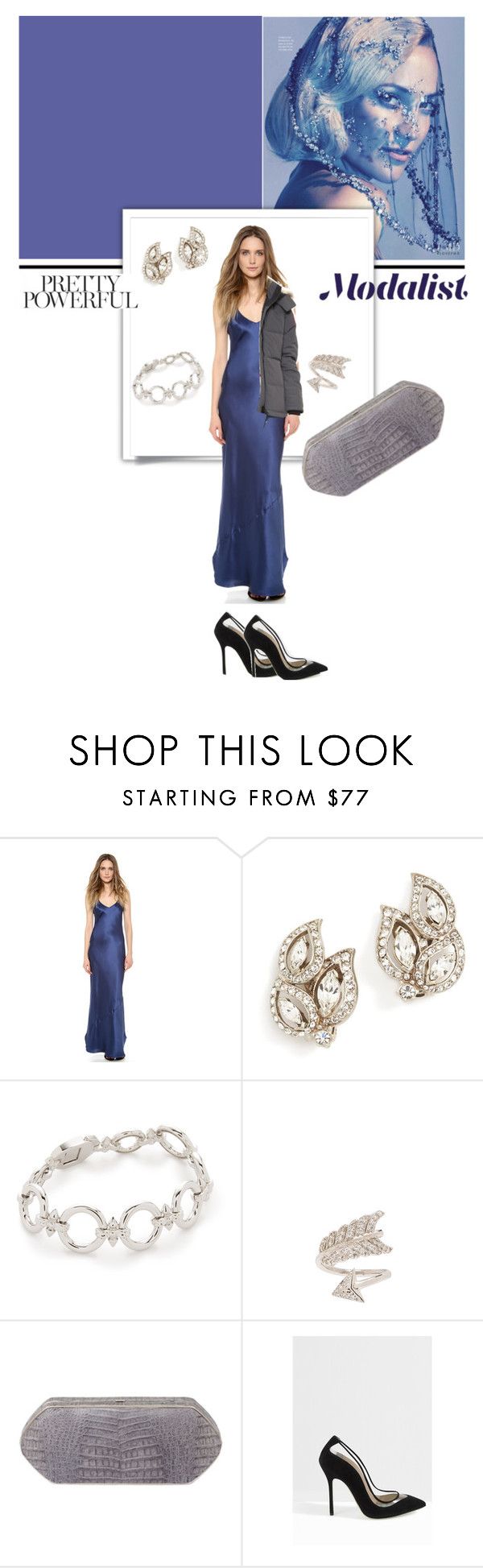 """Pretty for Party"" by modalist on Polyvore featuring Nili Lotan, Ben-Amun, Noir Jewelry, Natalie B, Hunting Season, Giannico and Canada Goose"