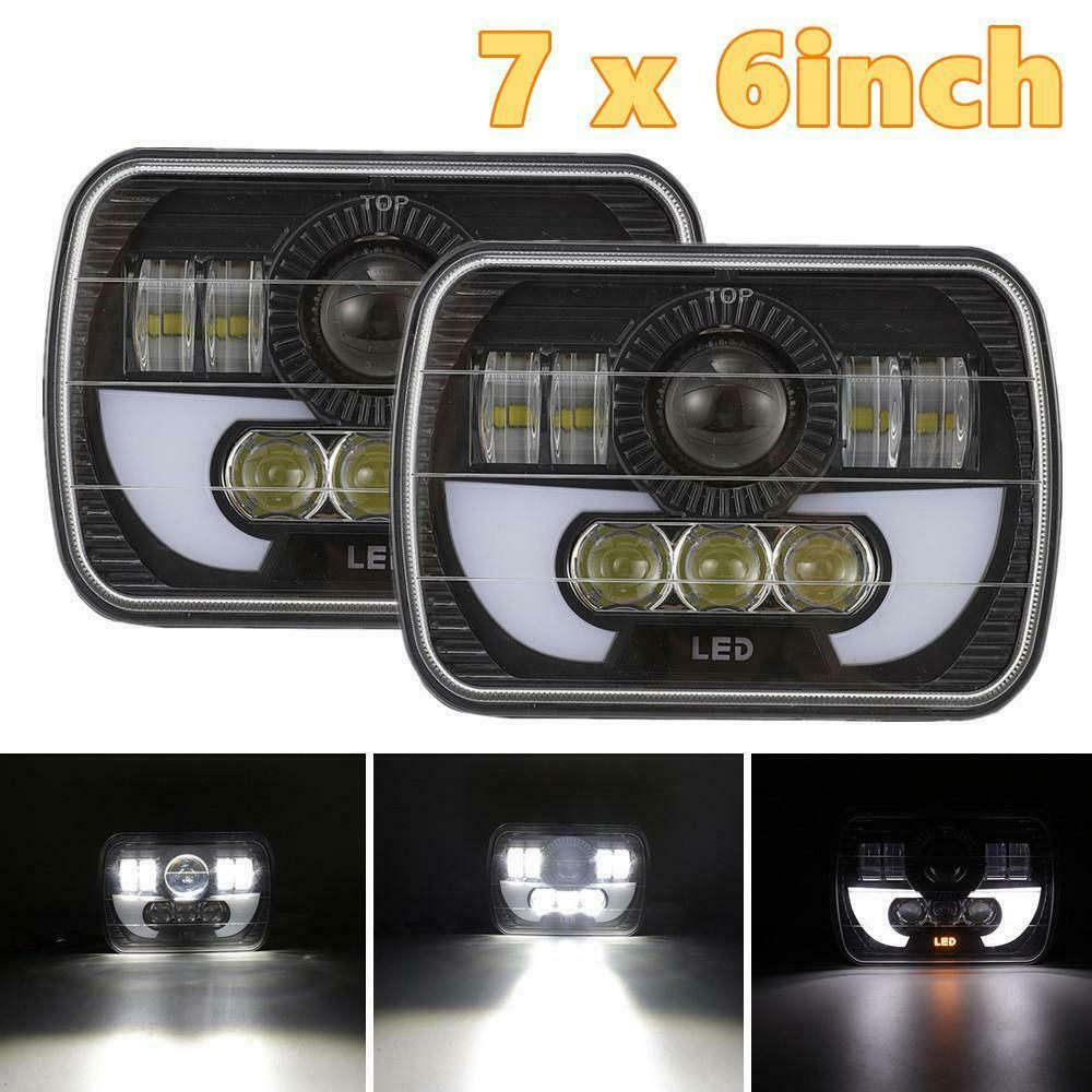 eBay #Sponsored 2pcs 120W Sqaure LED Headlight Hi-Lo Beam