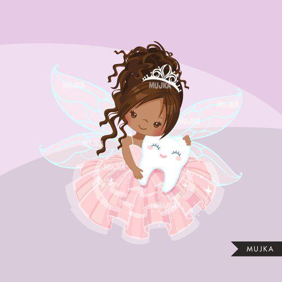 Tooth Fairy Clipart Cute Fairy Character Graphics Angel Etsy Fairy Clipart Cute Fairy Tooth Fairy