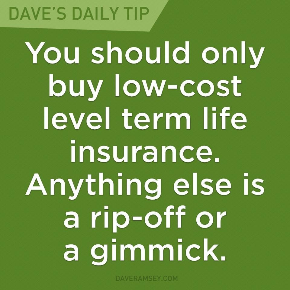 """You should only buy lowcost level term life insurance"