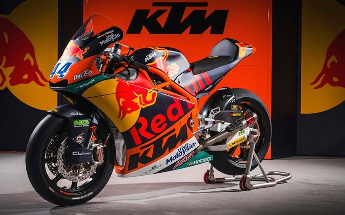 Download Wallpapers Ktm Rc16 2017 Motogp Race Bike Besthqwallpapers Com Racing Bikes Motogp Race Ktm