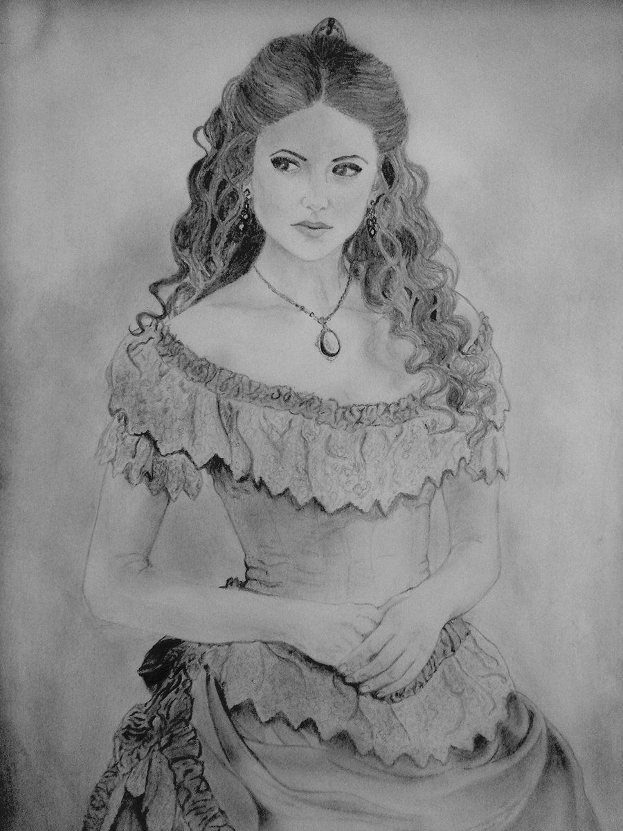 Drawing katherine pierce drawing drawings pinterest - Vampire diaries dessin ...