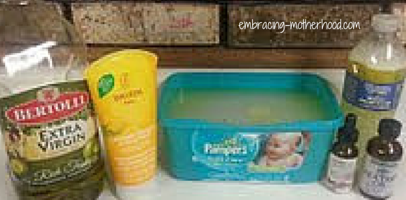 Homemade Diaper Wipe Solution Embracing Motherhood in