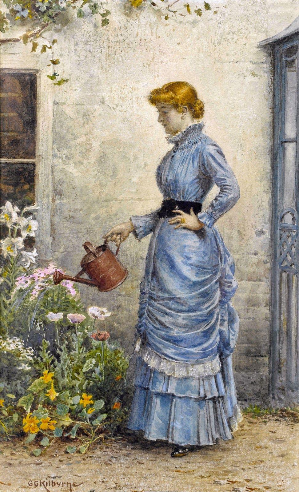 Victorian British Painting: George Goodwin Kilburne, ctd 19thcenturybritpaint.blogspot.com972 × 1600Buscar por imagen Watering the Flowers Jane Maria Bowkett - Buscar con Google