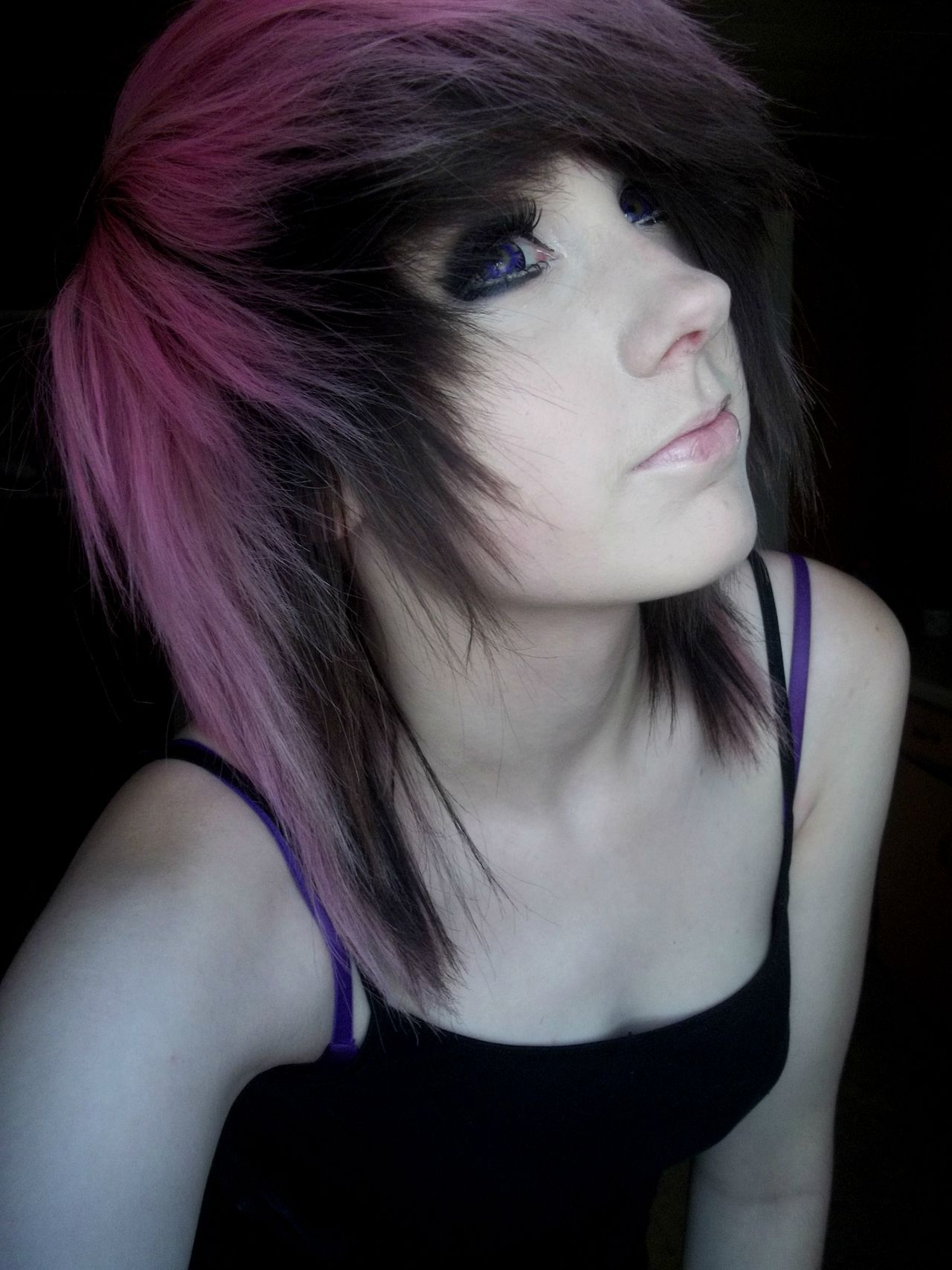 Pink and black scene hair hair pinterest scene hair black