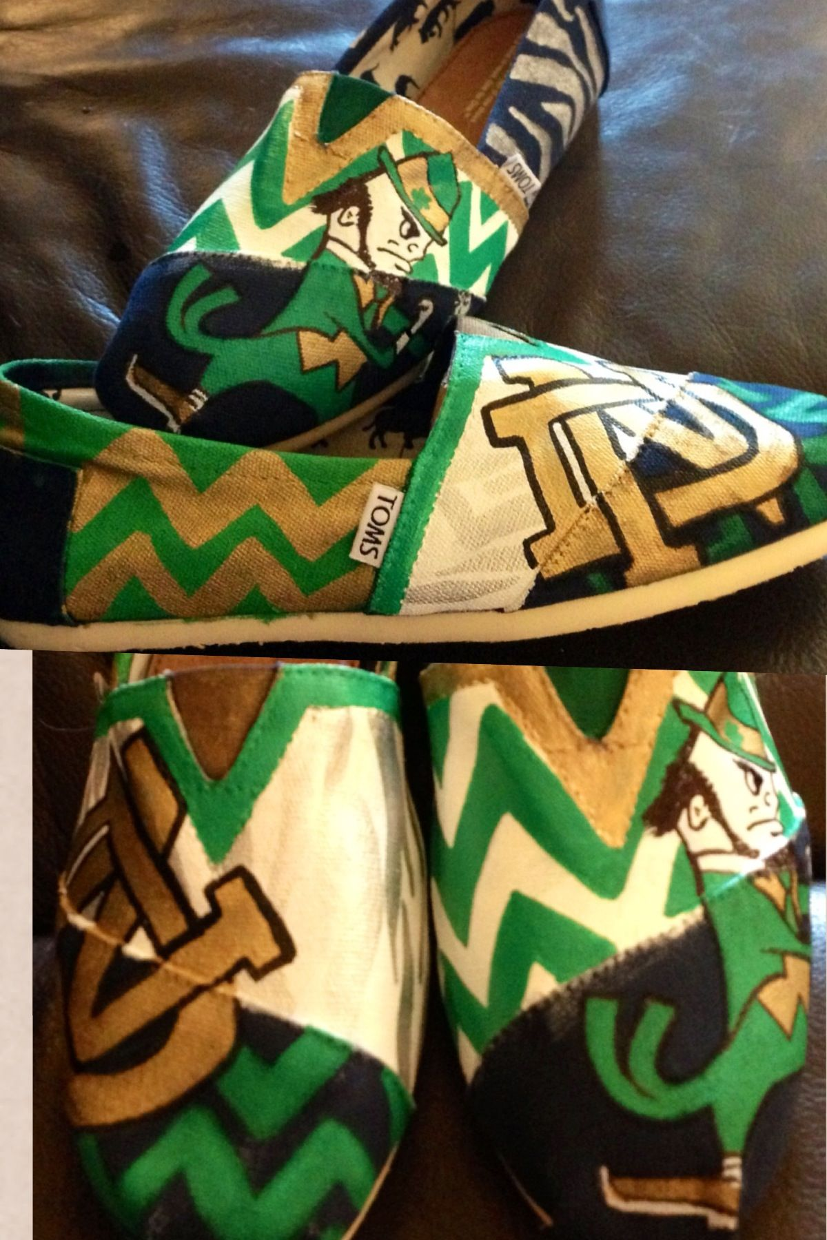 Notre dame nike shoes