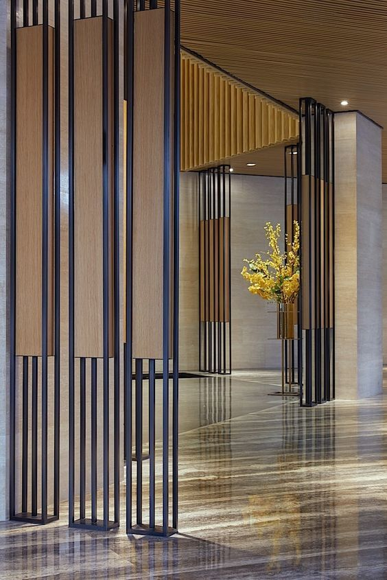 Hotel Design Stone Floor Room Dividers Screens