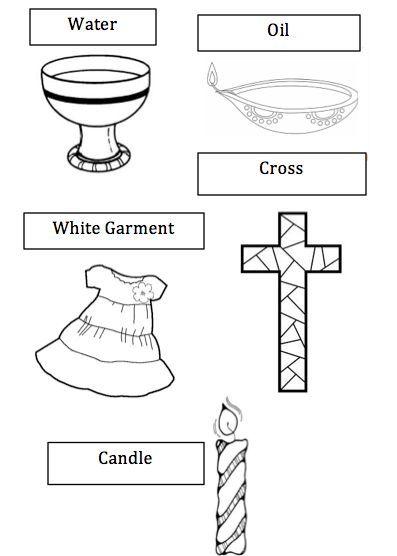 Symbole Der Taufe Arbeitsblatt