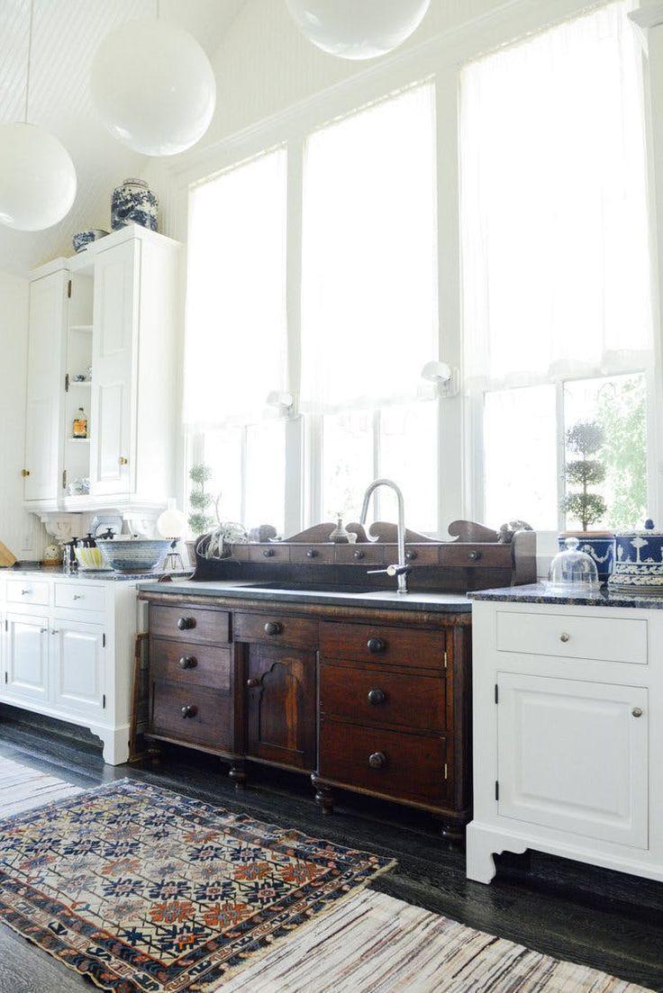 Farmhouse kitchen design invites you to bring a while to savor