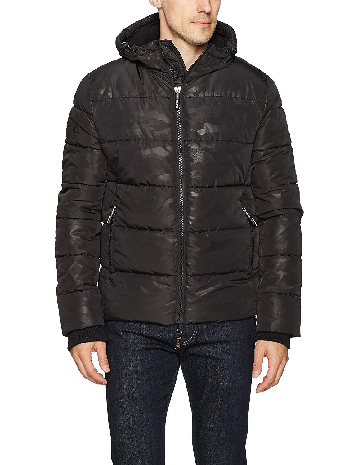 Superdry Sports Puffer Jacket Black Jackets, Mens