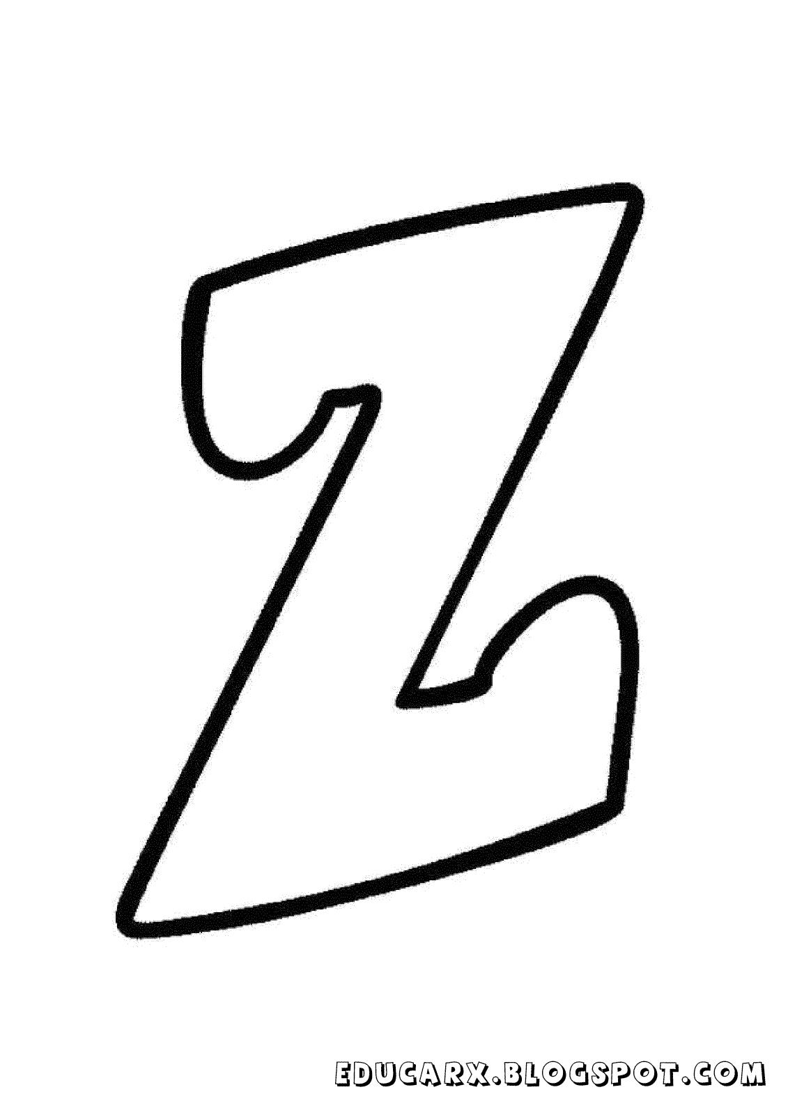 Molde da letra minuscula z   moldes de letras   Pinterest